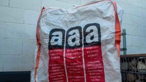 Fachgerechte Entsorgung von Asbest in gekennzeichneten BigBags | AsbestProfi Darmstadt