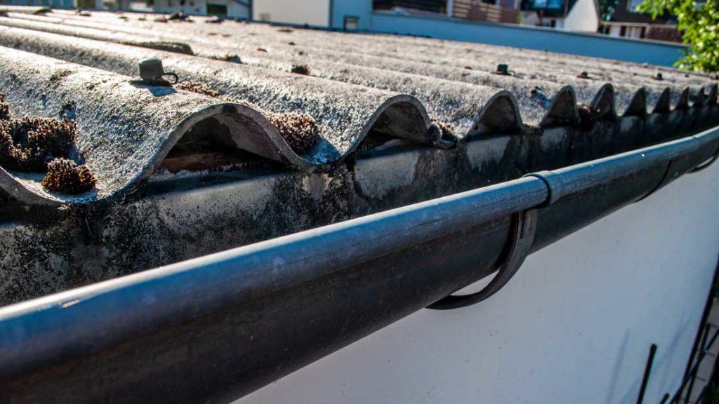 Asbesthaltige Wellplatten aus Asbestzement auf Dächern | AsbestProfi Darmstadt